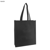 Black Non Woven Bag With Large Gusset