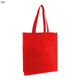 Red Non Woven Bag With Large Gusset