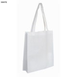 White Non Woven Bag With Large Gusset