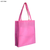 Pink Non Woven Bag With Large Gusset