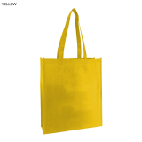 Yellow Non Woven Bag With Large Gusset