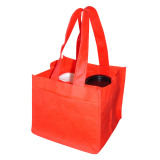 Red Non Woven 4 Coffee Cups Bags