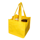 Yellow Non Woven 4 Coffee Cups Bags