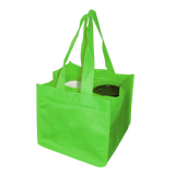 Green Non Woven 4 Coffee Cups Bags