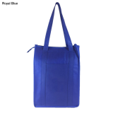Blue Non Woven Cooler Bag With Top Zip Closure