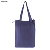 Navy Non Woven Cooler Bag With Top Zip Closure