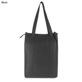 Black Non Woven Cooler Bag With Top Zip Closure