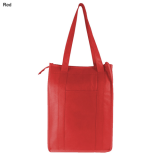 Red Non Woven Cooler Bag With Top Zip Closure