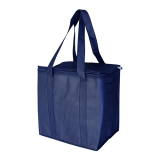 Navy Non Woven Cooler Bag With Zipped Lid