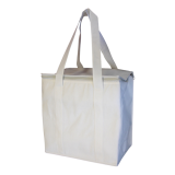 White Non Woven Cooler Bag With Zipped Lid