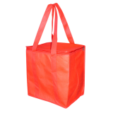 Red Black Non Woven Cooler Bag With Zipped Lid