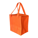 Orange Non Woven Cooler Bag With Zipped Lid