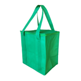 Green Non Woven Cooler Bag With Zipped Lid