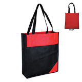 Black/Red Non Woven Bag With Mix Colour
