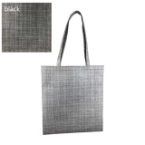 Grey Silver Line Paterned Non Woven Bag