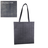 Black Silver Line Paterned Non Woven Bag