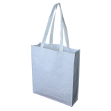 White Paper Bag With Large Gusset