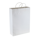 White Paper Kraft Shopping Bag