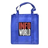 Blue Non-Woven Shopping Bag with Gusset