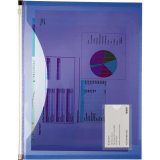 Purple On-The-Go Pocket Portfolio - Transparent Blue
