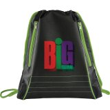 Green Neon Deluxe Drawstring Sportspack