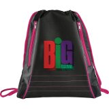 Pink Neon Deluxe Drawstring Sportspack