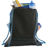Blue Neon Deluxe Drawstring Sportspack