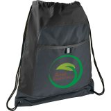 Black Gray Color Pop Drawstring Sportspack