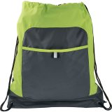 Green Gray Color Pop Drawstring Sportspack