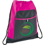 Pink Gray Color Pop Drawstring Sportspack