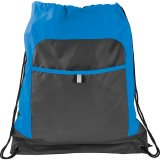 Blue Gray Color Pop Drawstring Sportspack