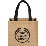 Black Solid Printed The Mini Jute Gift Tote