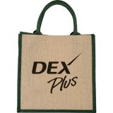 Green Printed Front The Medium Jute Gift Tote