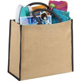 Black Solid Sideways The Large Jute Tote