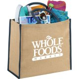 Navy Sideways The Large Jute Tote