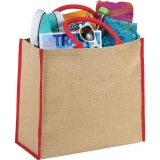 Red The Large Jute Tote