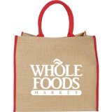 Red Printed Front The Large Jute Tote