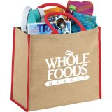 Red Printed The Large Jute Tote