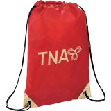 Red Metallic Accent Drawstring Sportspack 05