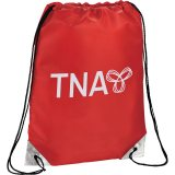Red Metallic Accent Drawstring Sportspack 10