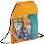 Yellow Printed The Guide Clear Drawstring Cinch Backpack