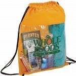 Yellow Printed The Guide Clear Drawstring Cinch Backpack 03