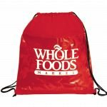 Red Printed The Guide Clear Drawstring Cinch Backpack 01