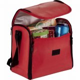 Open view Red The Parkway Convertible Placemat Cooler