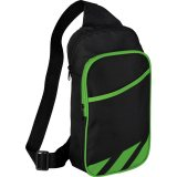 Green decorated Flash 12\'\' Tablet Sling Backpack