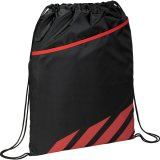 Red Front View Flash Drawstring Sportspack