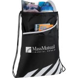 White Open Decorated View Flash Drawstring Sportspack
