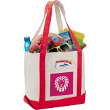 Red Cotton Boat Tote