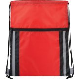 Red  The Deluxe Reflective Drawstring Cinch 01