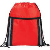 Red  The Deluxe Reflective Drawstring Cinch 02